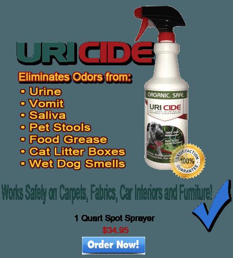 uricide pet odor eliminator cleans pet urine smells fast