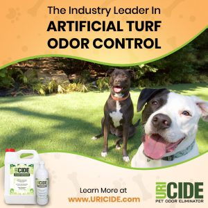best way to eliminate dog urine odors on artificial grass